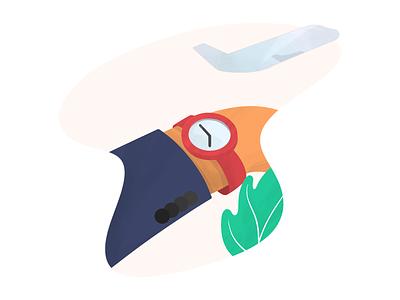 Miss a Plane time airport plane mission digital art procreate illustration anilemmiler