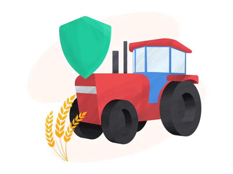 Tractor farming tractor digital art procreate illustration anilemmiler
