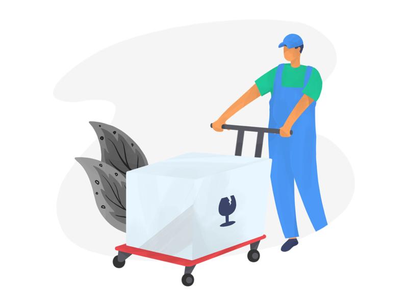 Carrying cargo carrying art digital art procreate illustration anilemmiler