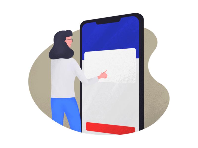 Dashboard app design onboarding app digital art procreate illustration anilemmiler