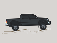 Toyota Tacoma illustration trucks taco car toyota truck