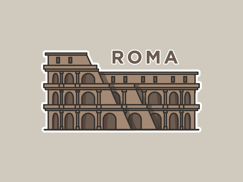 Roma Sticker illustration europe sticker italy roma rome colosseum