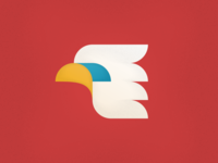 Eagle V2 texture grain gradients bird illustrator vector icon illustration eagle