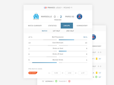 LiveScore - easy footballscore livescoreui score ui score web scores24 scores sport soccer livescore