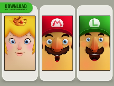 Wallpaper Mario Bros game illustration mario free wallpaper iphone5 peach apps bros download funny luigi tribute