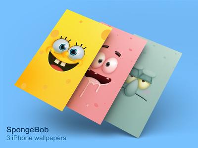 Spongebob Wallpaper photoshop suarez samuel spongebob patrick squidward samuelsuarez wallpaper iphone eye illustration