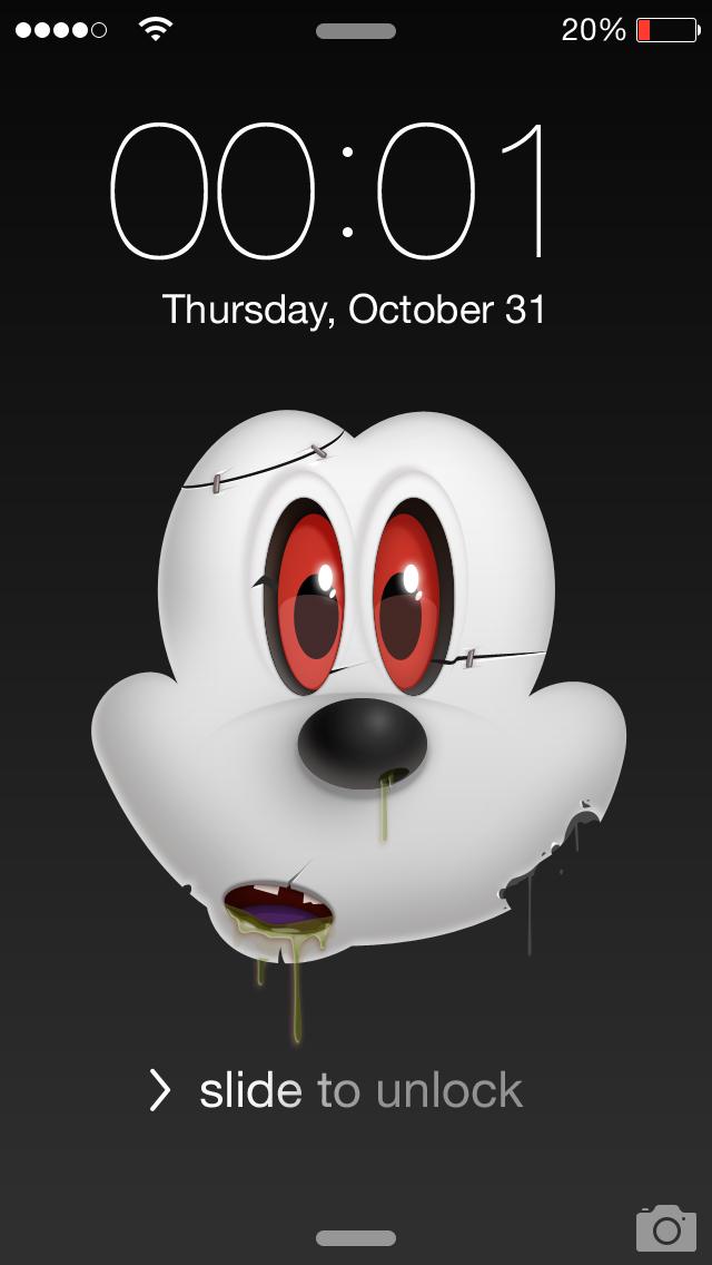 Mickey zombie lock screen