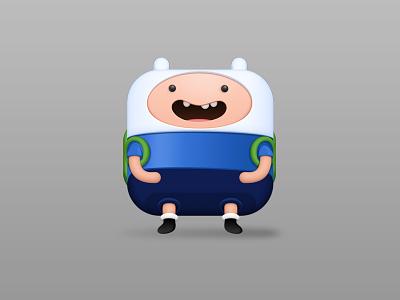 Finn icon samuel jake character time blue finn vector cartoon suarez aventure icon illustration