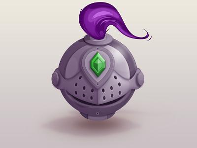 Helmet game suarez icon knight warrior gem helmet illustration samuel armor cartoon vector
