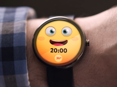 Android Wear Weather App toon app ui motorola interface clock watch concept character wear moto360 android