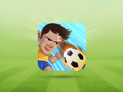 Icon Head Soccer icon football ball samuel suarez illustration character vector game app fire draw