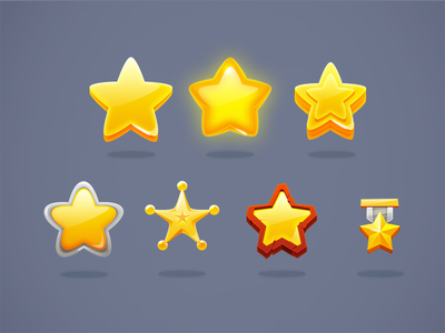 Game Stars vector star game empty diferent yellow shine app glow win psd icon