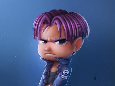 Trunk anime photoshop concept blue suarez samuel game sword illustration ball dragon trunk