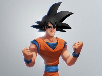 Goku Disney Infinity toy disney suarez illustration infinity goku samuel dragonball