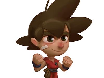 Dragon Ball The Monkey Kid illustration app project conceptart bulma character remake game goku videogame samuelsuarez dragonball