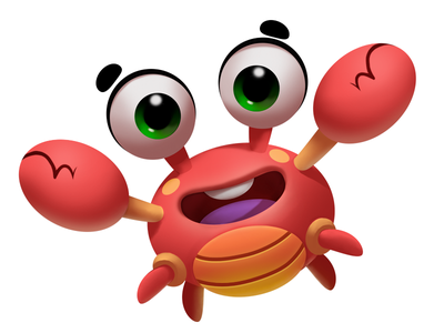 Crab characterdesign casualgame high bubble bubblewords free illustration crab game app