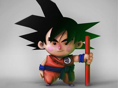 Son Goku Wallpaper illustrationdragonball son goku draw samuel suarez dragon ball photoshop