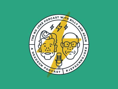 No Joke Podcast Badge Art