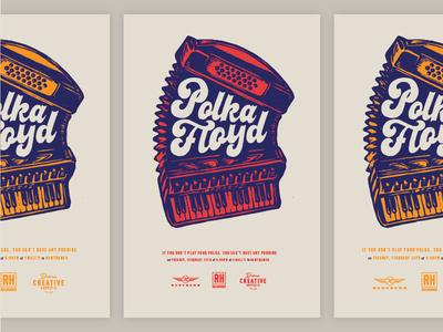 Polka Floyd Gig Poster