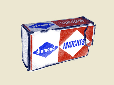 Diamond Matchbox Illustration