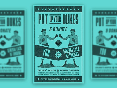 Put up your Dukes! poster letterpress lettering posterdesign event poster boxing