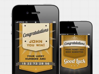 Congratulations ui congratulations gold black lottery game fun win good luck ios