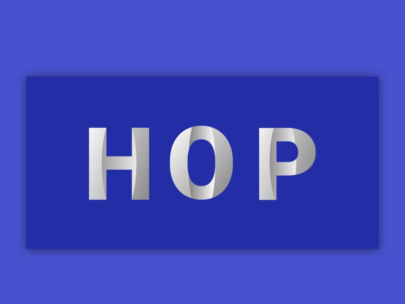 Logo Hop ux logo design logotype logo
