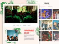 Tropical landing page - Gramophiles