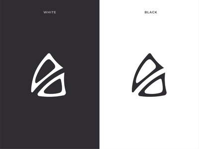 triangle logomark a lettermarkexploration logogrid branding grid logo design clean logo vector design
