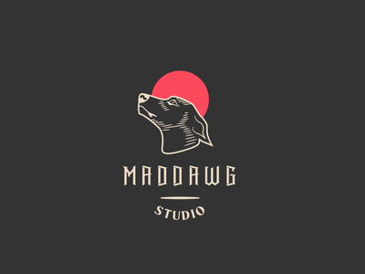 maddawg design logodesign dawg lines lineart icon maddog logotype branding color clean vector logo design dog logo