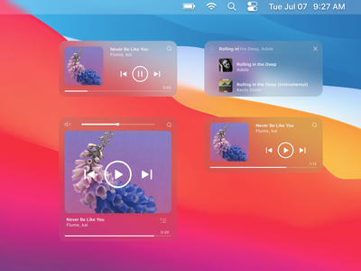Music Widget for Big Sur blur widgets player music player bigsur osx macosx macos apple big sur widget music