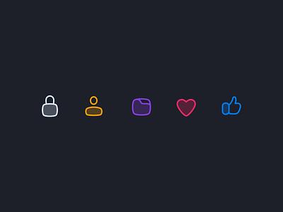 Icon Exploration thumbs up iconography icon set icons icon exploration iconset icon like heart folder user lock