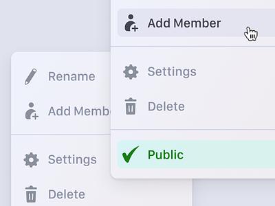 Context menu UI menu design uidesign uiux design art hover hover state web app app ui context menu modules menu