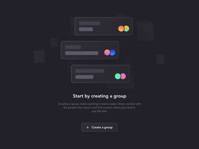 UI Empty State uiux cta window group dark mode ui empty state emptystate empty