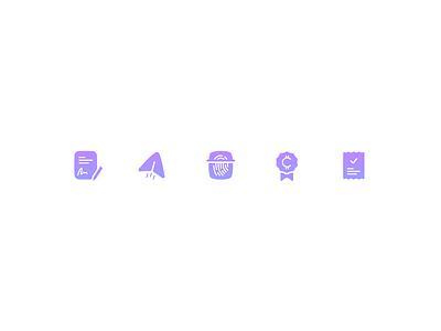 Celsius Iconography   Crypto gradient dark mode light wallet cryptocurrency contract borrow receipt rewards send verify crypto icons crypto iconset icons icons set