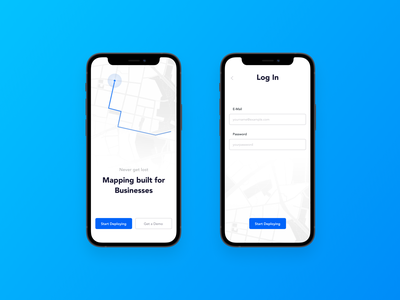 Map UI Exploration ios app mobile login page login sign in uiux ui map mockup iphone