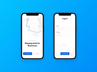 Map UI Exploration ios app mobile login page login sign in uiux ui map mockup iphone