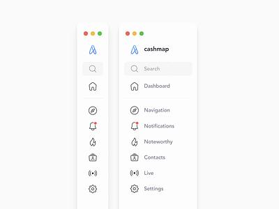Expandable Sidebar Animation web app desktop menu sidebar after effects animation uiux hover expandable interaction navigation interaction design user interface