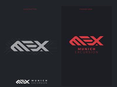 mex typography munich vector design grid logo grid logo design logo