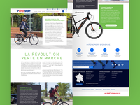 Landing page for Intersport website