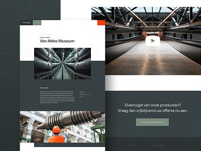 Aggeres Case Study Page website concept webdesign website industry flood landing defence homepage