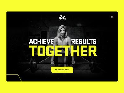 Milestone Homepage trainer website cross training training fitness gym landing homepage web design