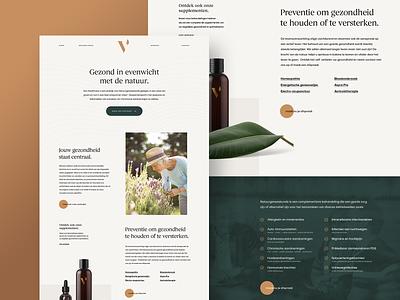 Ven Homepage supplements medical doctor medicine landing webdesign website homepage beauty health