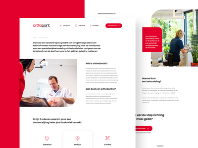 Orthopoint About Page icon red industry dentist website healthcare beauty webdesign medicine medical health doctor landing homepage