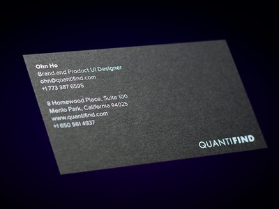 Quantifind Business Card Front branding
