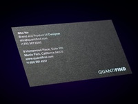 Quantifind Business Card Front