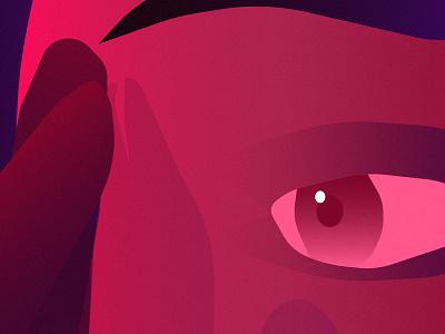 Overthink illustator illustration girl eye vector face pink