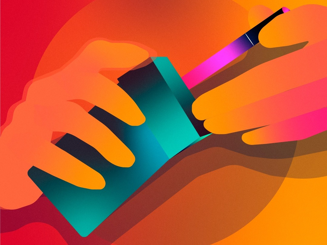 Addiction gradiant sketch drawings graphicdesign vectorart design color drawing illustrator vector illustration