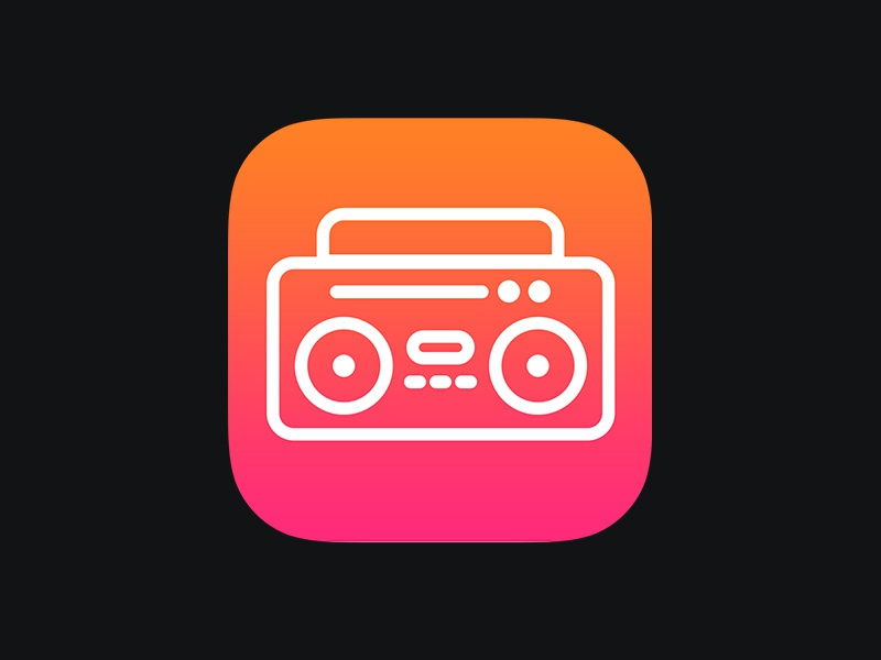 Daily UI 005: App Icon app icon daily ui ui ios radio player boombox stereo music clean app mobile