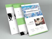 Construction Cost Consultancy Firm Website (Desktop)
